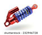 Sport Gas shock absorbers isolated on white background - stock photo