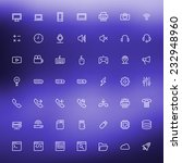 thin line technology icons set...