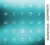 thin line weather icons set for ...