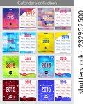 set of 2015 calendar template... | Shutterstock .eps vector #232952500