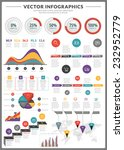 big pack of data visualization... | Shutterstock .eps vector #232952779