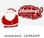 santa claus with merry...   Shutterstock .eps vector #232962649