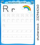 writing practice letter r ...