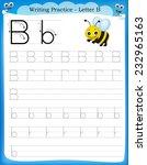 writing practice letter b ... | Shutterstock .eps vector #232965163