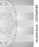 lace invitation card design ... | Shutterstock .eps vector #232968589
