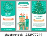 christmas party invitations in... | Shutterstock .eps vector #232977244