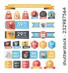 valentine      s day sale... | Shutterstock .eps vector #232987564