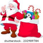 santa claus giving thumb up...