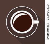 cup of coffee icon in flat... | Shutterstock .eps vector #232990510
