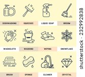 set of vector icons in flat... | Shutterstock .eps vector #232992838