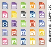 file types icon   Shutterstock .eps vector #232994260