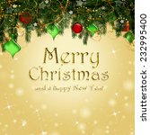 christmas background  | Shutterstock . vector #232995400