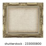 old golden frame with empty... | Shutterstock . vector #233000800