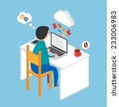 illustration of a programmer... | Shutterstock .eps vector #233006983