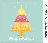 christmas postcard template... | Shutterstock .eps vector #233007610