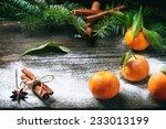 Christmas Decor With Tangerine...