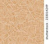 hand drawn ethnic seamless... | Shutterstock .eps vector #233014249