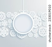 christmas paper card with... | Shutterstock .eps vector #233019010