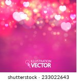 Shining Heart Bokeh Background...