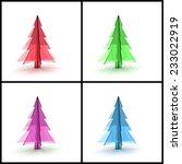 3d christmas tree concept... | Shutterstock . vector #233022919