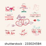 valentine's day labels  icons... | Shutterstock .eps vector #233024584