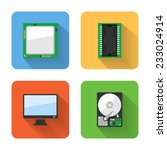 flat computer system icons....