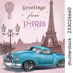 vintage touristic greeting card.... | Shutterstock .eps vector #233026660
