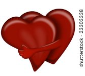 hearts hug  valentines day...   Shutterstock . vector #23303338