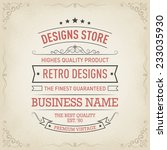vintage hand drawn banners | Shutterstock .eps vector #233035930