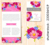 wedding invitation cards with... | Shutterstock .eps vector #233036419