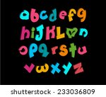 3 d vector of stylized playful... | Shutterstock .eps vector #233036809