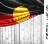 aboriginal australia flag and... | Shutterstock . vector #233040058