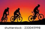 Mountain Bike Race   Cyclists...