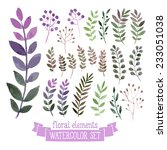 vector floral set. colorful... | Shutterstock .eps vector #233051038