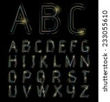 neon light alphabet  | Shutterstock .eps vector #233055610