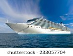 Large Beautiful Cruise Ship At...