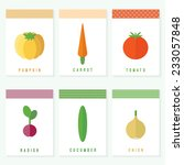 set of vegetables cards. flat... | Shutterstock .eps vector #233057848