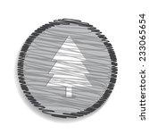 christmas tree icon | Shutterstock .eps vector #233065654