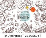 top view santa's work place... | Shutterstock .eps vector #233066764