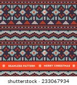 seamless knitting pattern  | Shutterstock .eps vector #233067934