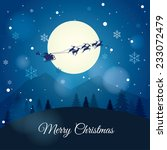 santa claus with reindeer...   Shutterstock .eps vector #233072479