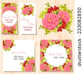 wedding invitation cards with... | Shutterstock .eps vector #233082850