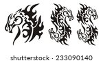 tribal horse head and double... | Shutterstock .eps vector #233090140