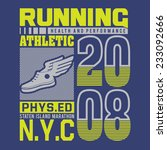 running athletic  typography  t ... | Shutterstock .eps vector #233092666
