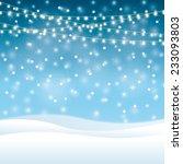 christmas winter background | Shutterstock .eps vector #233093803