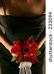 bridesmaid holding bouquet | Shutterstock . vector #233094