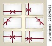 set of realistic white gift... | Shutterstock .eps vector #233096053