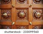 Detail Of An Ornate Wooden Door
