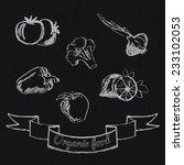 Chalk Food Fruit And Vegetables ...