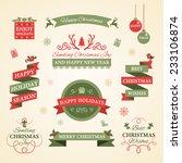 christmas set. badges  labels... | Shutterstock .eps vector #233106874
